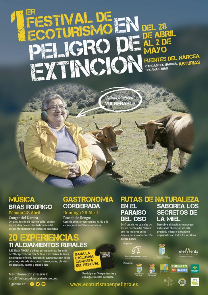 Cartel del festival de ecoturismo, en peligro de extinción